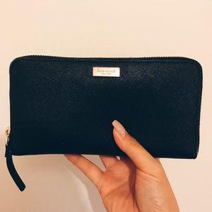 Kate Spade Black Zip-Up Wallet